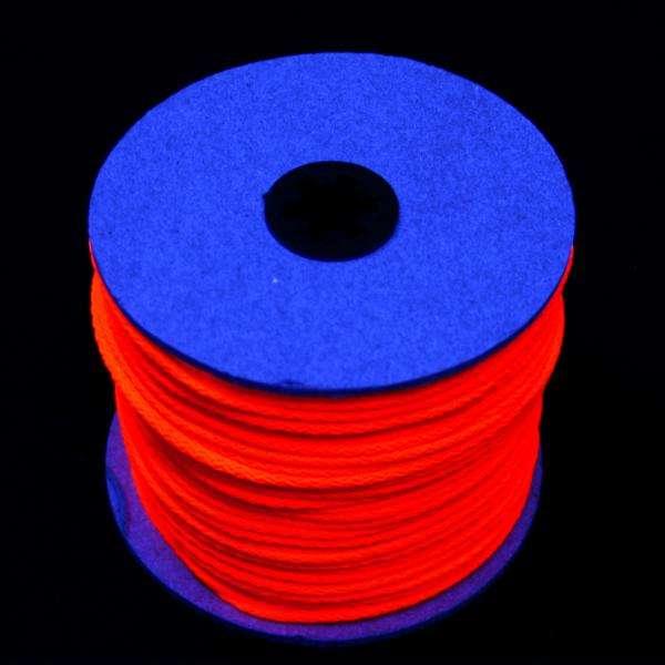 100m UV-Leuchtschnur rot UV-Schnur