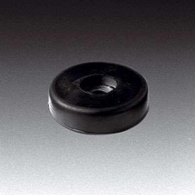 Gummifuß, groß, H:11mm, schwarz