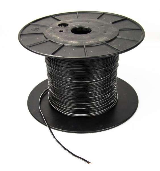 Zwillingslitze 2x 0,4 qmm, LIYZ schwarz, 2-adriges Kabel, flexibles Litzenkabel, Lautsprecherkabel
