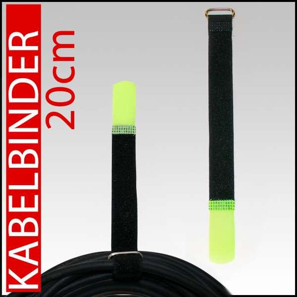 Klett-Kabelbinder 20cm Klettband Kabelklett L20 x B2cm