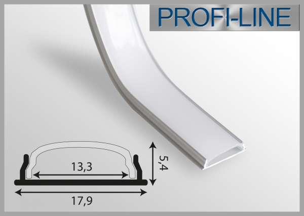 LED Alu-Profil 2m Alu-LED-Kurvenprofil biegsame Aufbauvariante LKP-18 für LED-Strips bis 12mm