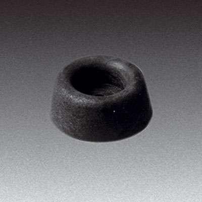 Gummifuß, mittel, H:11mm, schwarz