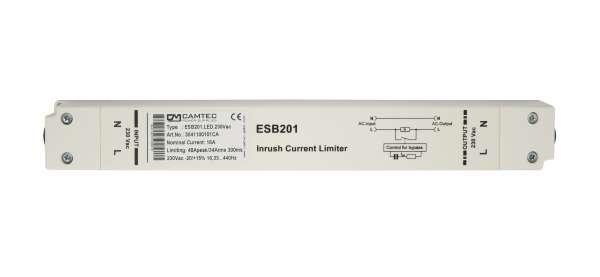 Camtec Einschaltstrombegrenzer ESB201.LED230Vac, Spitzenstrombegrenzer für LED Netzteile