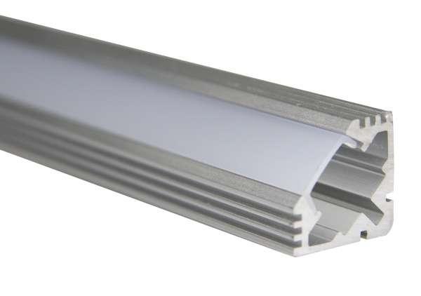 1m Aluprofil Winkel / LED Winkelprofil 19 x 19mm für LED-Strips inkl. Abdeckung Frost, Eckprofil