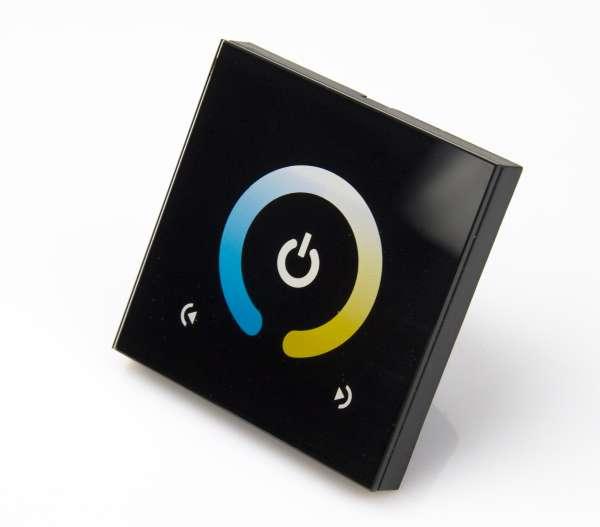 CCT-Wandcontroller 12-24V DC Dimmer und Farbtemperatur Regler für 2-Kanal CCT LED-Strips