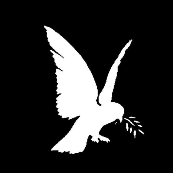 """E-Gobo """"Dove of Peace"""" Metallgobo"""