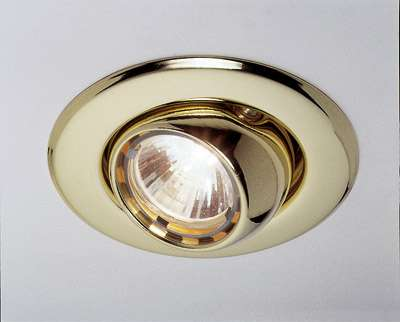 Kugel-Downlight, MR 11, gold