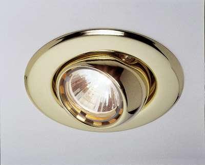 Kugel-Downlight, MR 11, gold