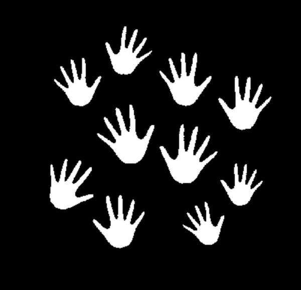 "E-Gobo ""Hands"" Metallgobo"
