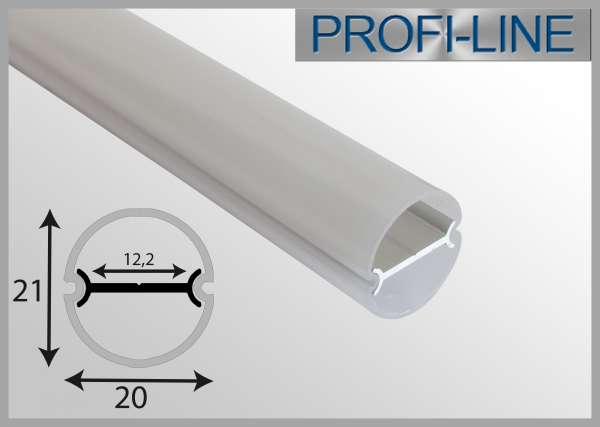 10 cm MUSTER Outdoor LED-Profil 2m RUND IP65 Rundstabprofil OLP-331 für LED-Strips bis 12mm Breite