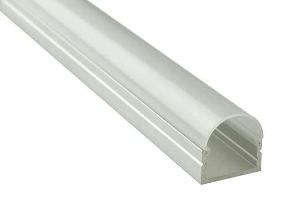 Einzelne Abdeckung 2m für LED-Profil Aufbau hoch LAP-71, runde Abdeckung Frost als Ersatz