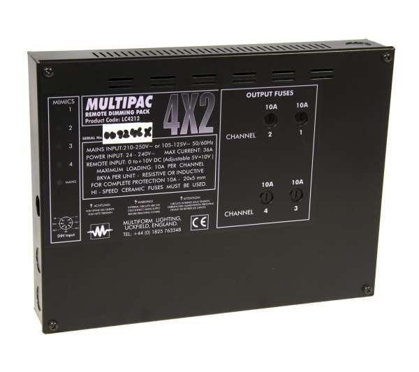 Multiform Multipac LC4212 4x10A Dimmepack Dimmer (2000W pro Kanal) Festeinbau