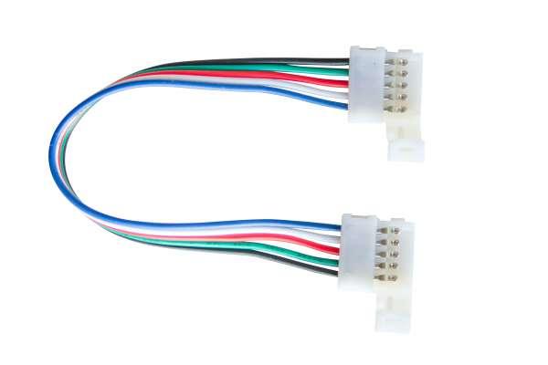 15 cm Verbindungskabel, 5-polig für RGBW LED-Strips mit 12mm Breite, lötfreie Schnellverbinder 12mm